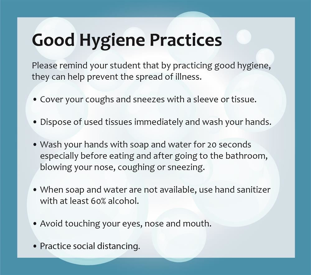 Good Hygiene Practices Graphic