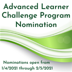 Advanced Learner Nominations