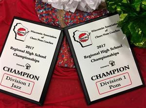 Dance Team earned first place in the Division 1 Pom and Division 1 Jazz sectors.