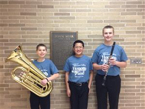 Three DCE Middle School students performed with the WI Valley Honors Band.