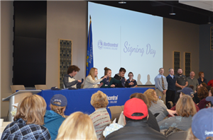 students sign letters of intent at NTC