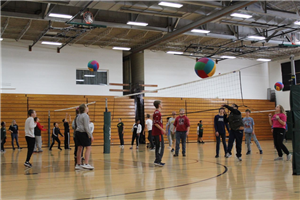 At a recent DCE Junior High Project Unify event, the students filled the gym to play volleyball.
