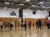 Image of students having fun in the gym.