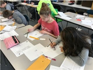 students learn about forensic sketches