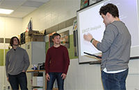 students proposing business plan