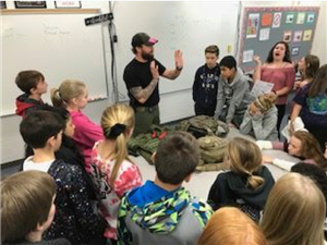 students learn about emergency response