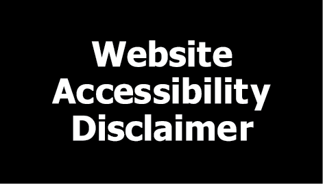 Open website accessibility disclaimer in a new window