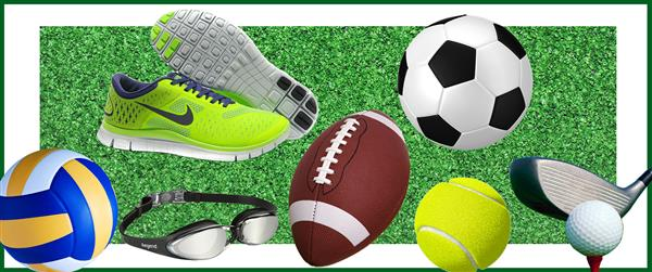 Image of multiple sports equipment