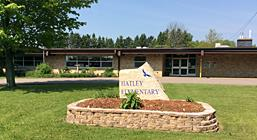 Photo of the front of Hatley Elementary School