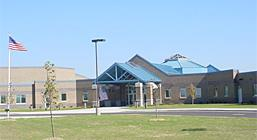 Photo of the front of D.C. Everest Middle School