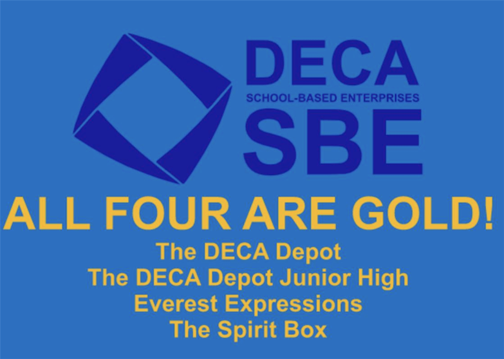 D.C. Everest DECA's Four Student-led Businesses Earn Gold-level Status