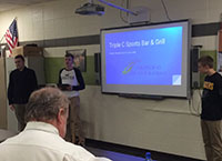D.C. Everest Senior High Students Present Wausau Representatives