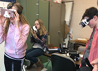 image of students using virtual reality technology