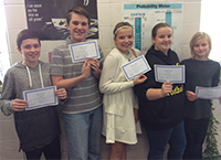 math team takes first place in contest