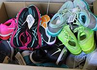 Image of shoes to represent the need to donated clothing in the school district.